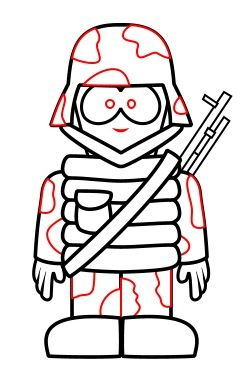 Drawing A Cartoon Soldier In 2019 How To Draw Kid Art Soldier