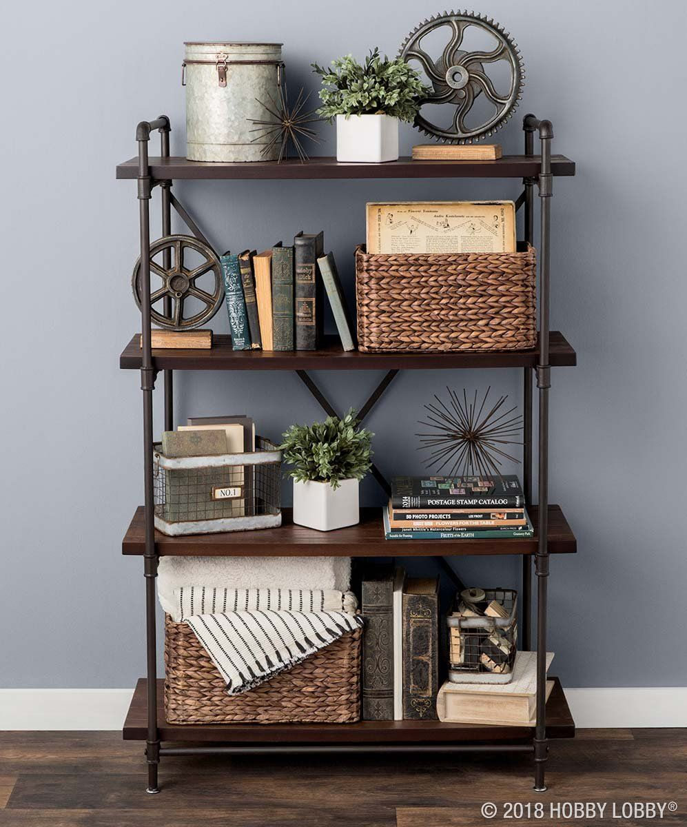 Stylishly display your favorite books, baubles and more