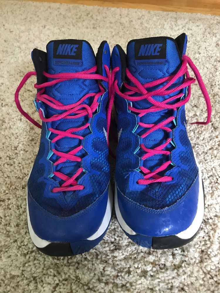 40332b48d960e Nike Men s Zoom Without A Doubt Basketball Shoe Size 8 Blue   Black PINK  LACES  fashion  clothing  shoes  accessories  mensshoes  athleticshoes  ad  (ebay ...