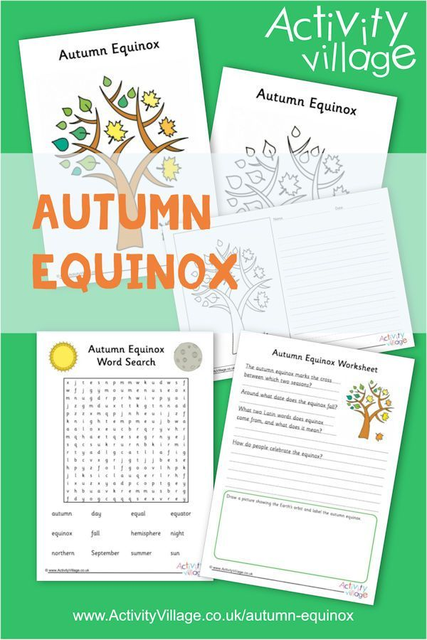 Kids can learn a little about the autumn equinox, have a go at a word search and worksheet, write about it or colour in our colouring page. #autumnalequinox