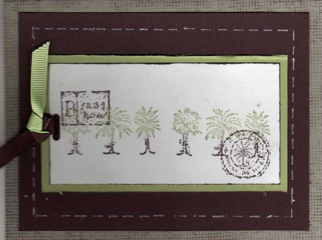 Balmy Breezes Stampin' Up! set - I'd keep the trees all sage