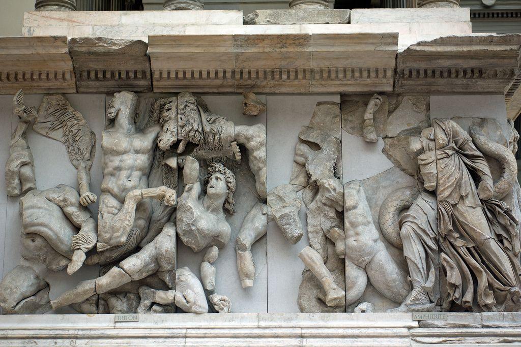 Pergamon Altar Zeus Gigantomachy Frieze Berlin Pergamon Museum Pergamon Museum Berlin Pergamon