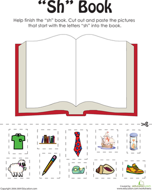 Printables Collect The Pictures That Begin Ch And Sh sh worksheets for first grade davezan bloggakuten
