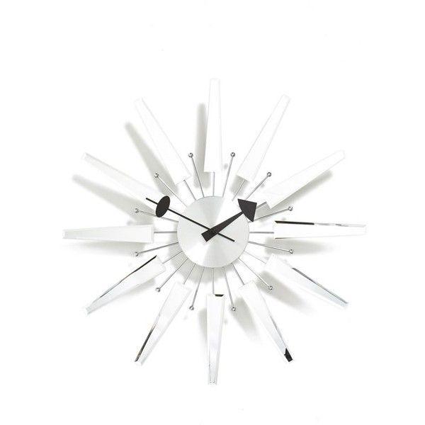 World Friendly World 'Beveled Spear' Wall Clock  home, home decor, clocks, silver, battery wall clock, battery operated clock, battery powered clock, round wall clock and round clock