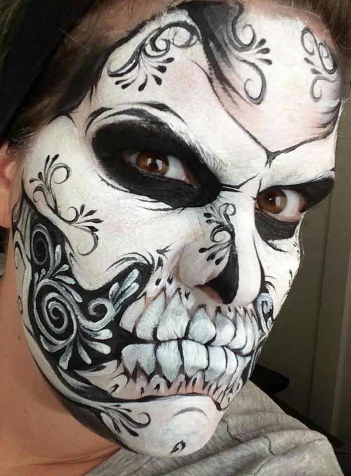 Pin von franziska auf schminken - Mexikanische totenmaske schminken ...