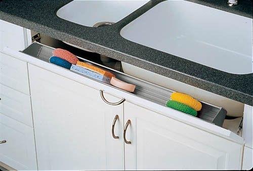 Trimmable Tilt Out Tray For Sink Base Rev A Shelf Cabinets Organization Under Sink Organization