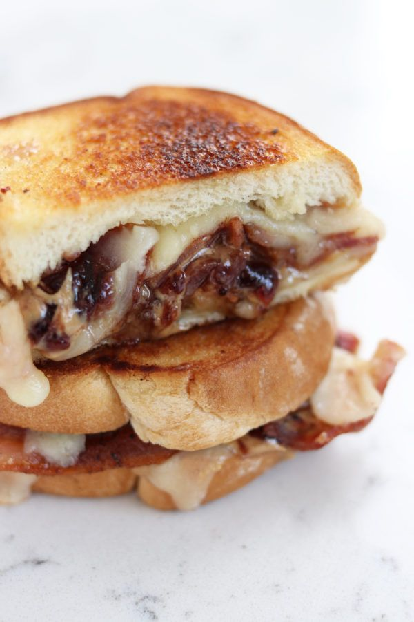 Peanut Butter Jelly And Bacon Grilled Cheese Sandwich So Fun And Unexpectedly Tasty Bacon Grilled Cheese Peanut Butter Jelly Sandwich Grilled Cheese