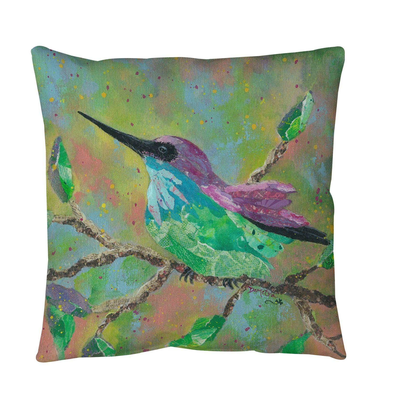 Weavers Hummingbird Throw Or Floor Pillow (36 Inch X 36