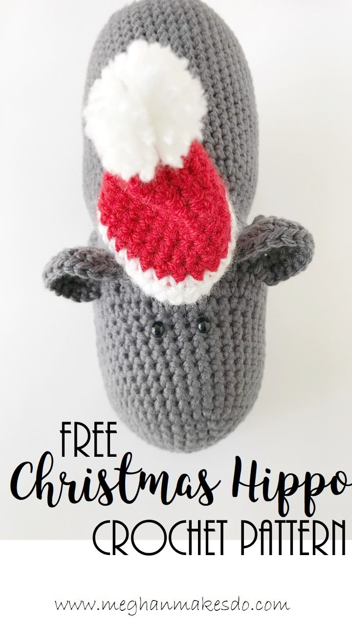 Dec 15 Free Hippo Crochet Pattern