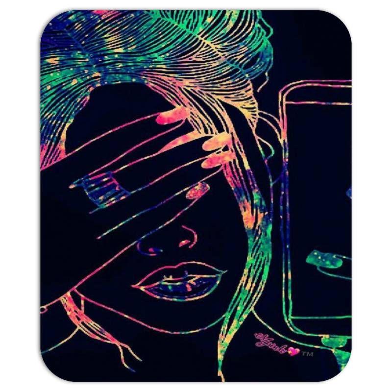Neon girl Mousepad