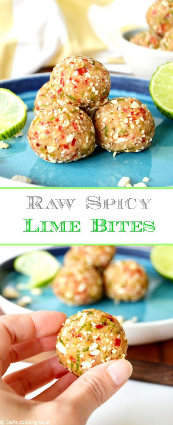 Raw Spicy Lime Bites Recipe Raw Food Recipes Cooking Healthy