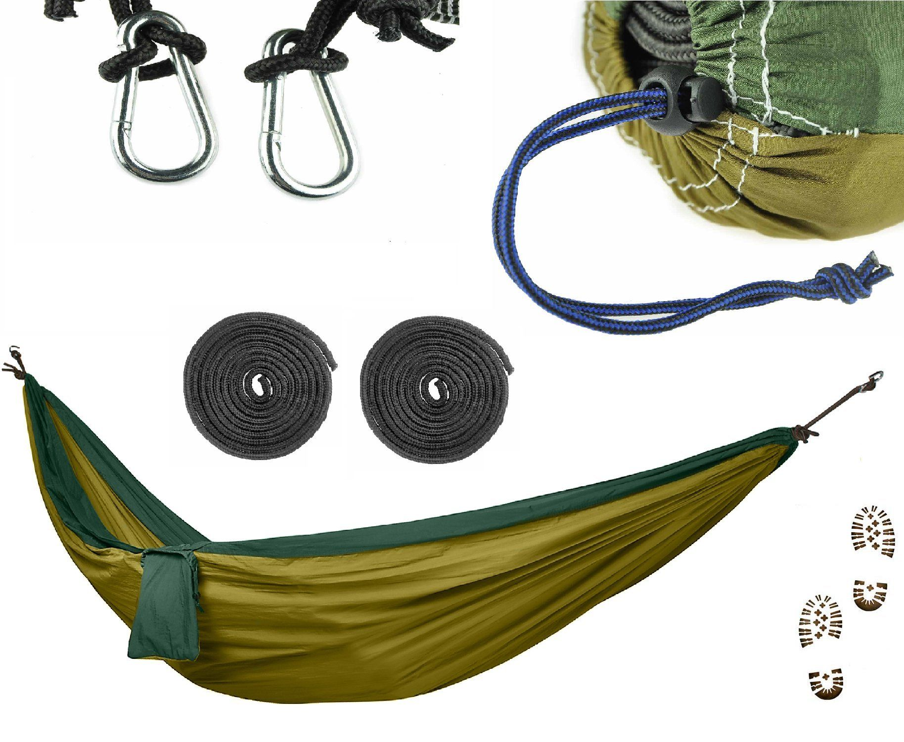 Commando steve camping hammock set ultralight military grade