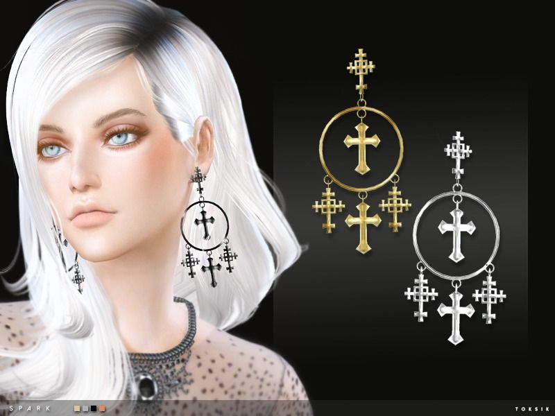 4 colours Found in TSR Category 'Sims 4 Female Earrings'