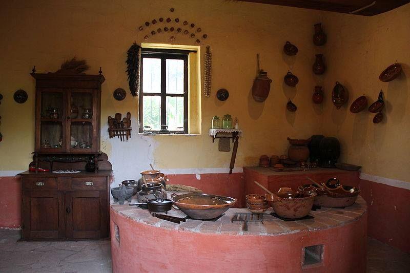 Cocina campirana en una hacienda del siglo xix (1832) en ...