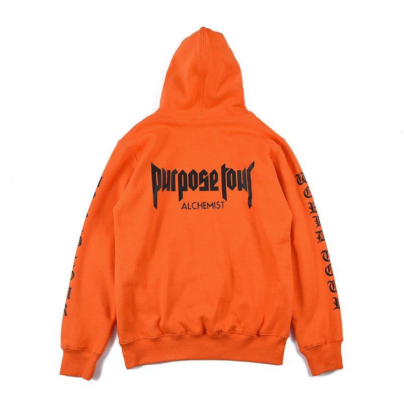 JustinBieberPurposeTour Staff ALCHEMIST X Champion Hoodie Orange ...