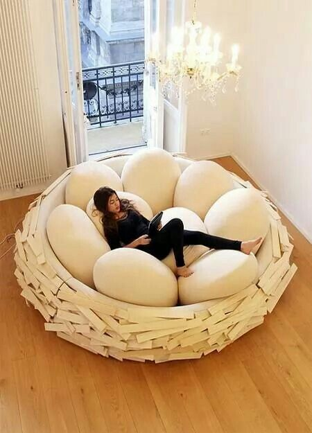Bird's nest bed! The Giant Bird's Nest, available in many timbers and egg colours. Very expensive though!
