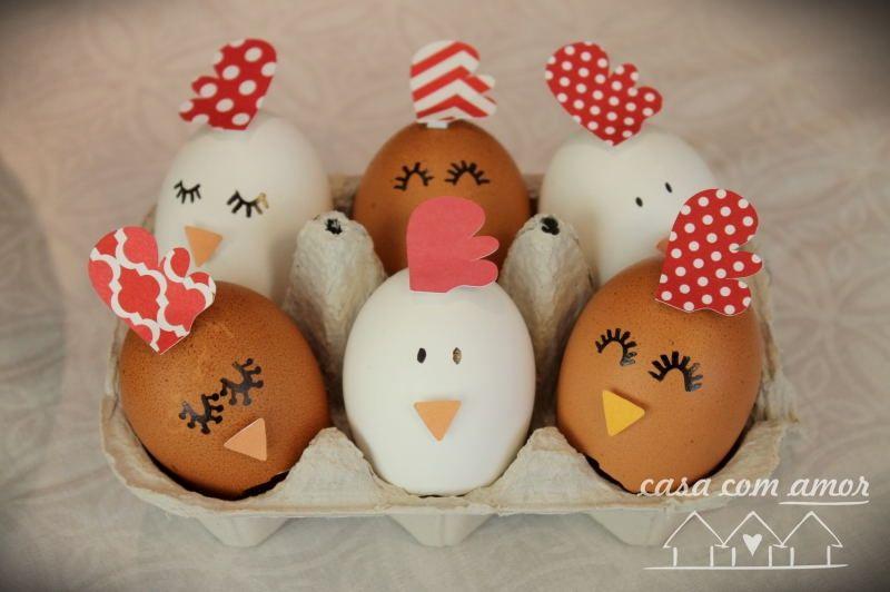 ovo de galinha decorado para pascoa passo a passo Pesquisa Google ovos decorados Pinterest  -> Como Decorar Ovo De Pascoa