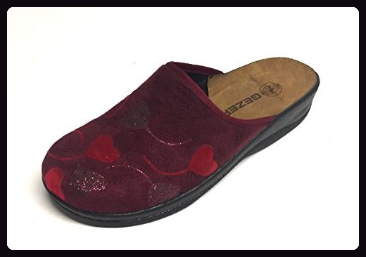 Damen Hausschuhe Pantoffeln Gr.36-40 Gezer 38 Schwarz sGsF32zWB