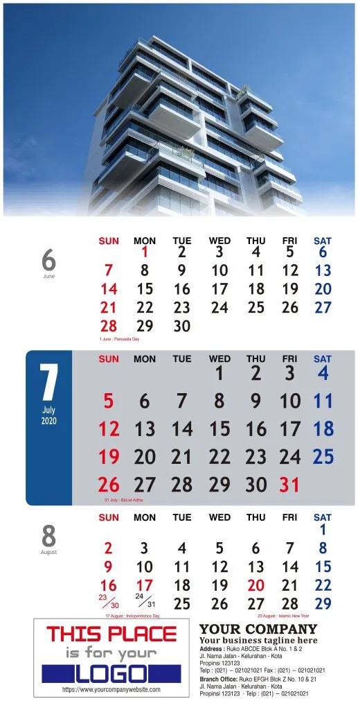 Kalender Dinding 2020 Tema Bisnis Perusahaan Free Download ...