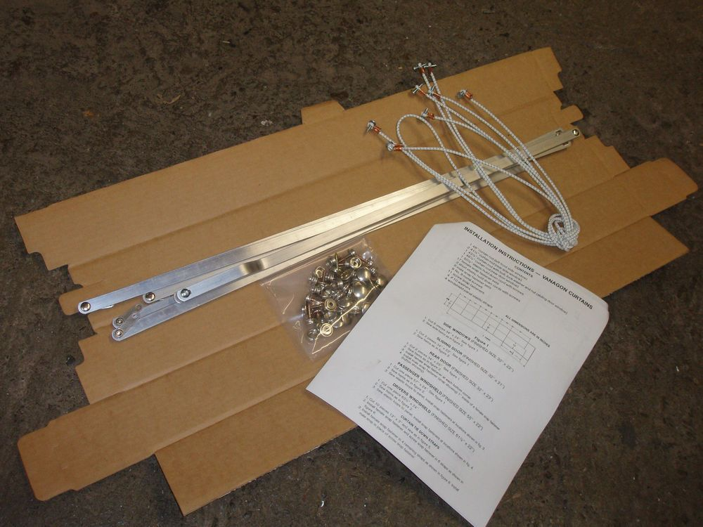 CURTAIN RODS / HARDWARE / SEWING INSTRUCTION KIT For VW Vanagon Bus Van  1980 On