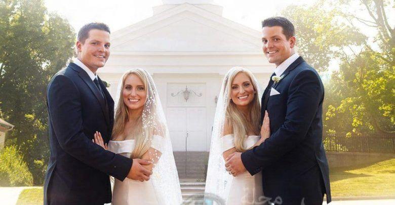 أغرب زواج توأم امريكى يتزوج توأم ويريدون إنجاب توائم فى نفس اليوم Couple Photos Photo Academic Dress
