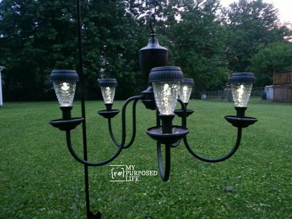Outdoor solar light chandelier