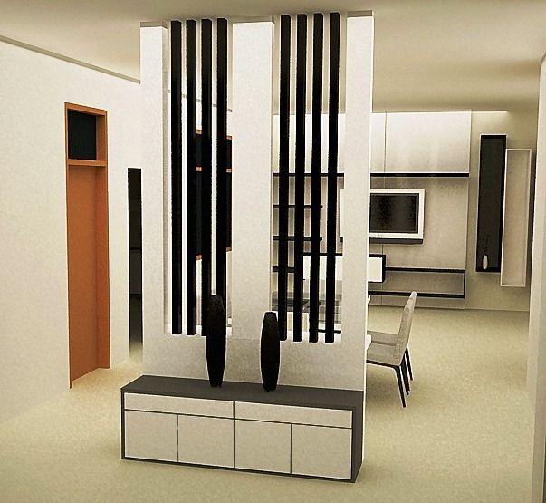 Sekat atau pembatas ruangan minimalis modern desain for Kitchen set jadi