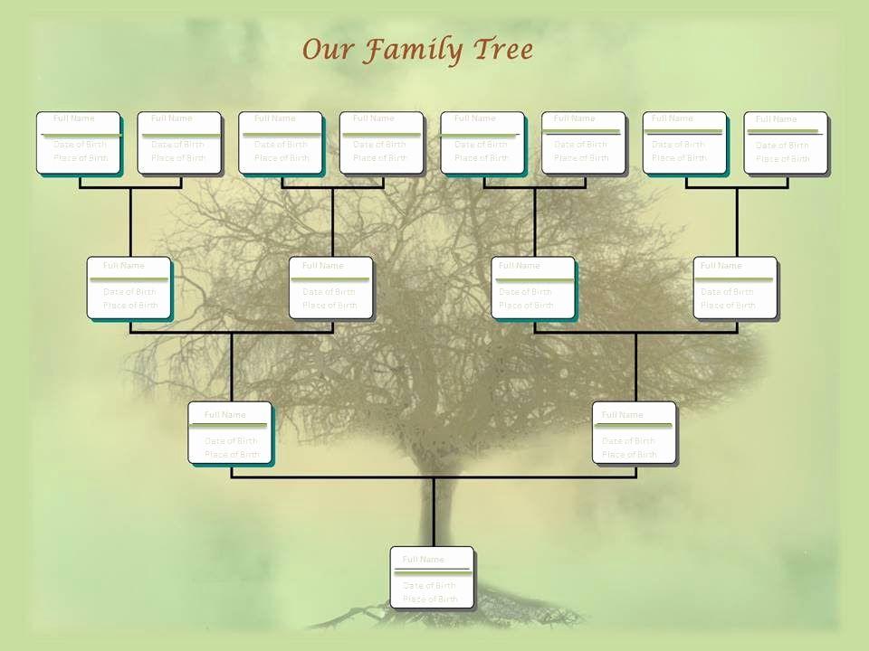 Family Tree Powerpoint Template Plantillas De árbol Genealógico Crear Un árbol Genealógico Plantillas De árboles