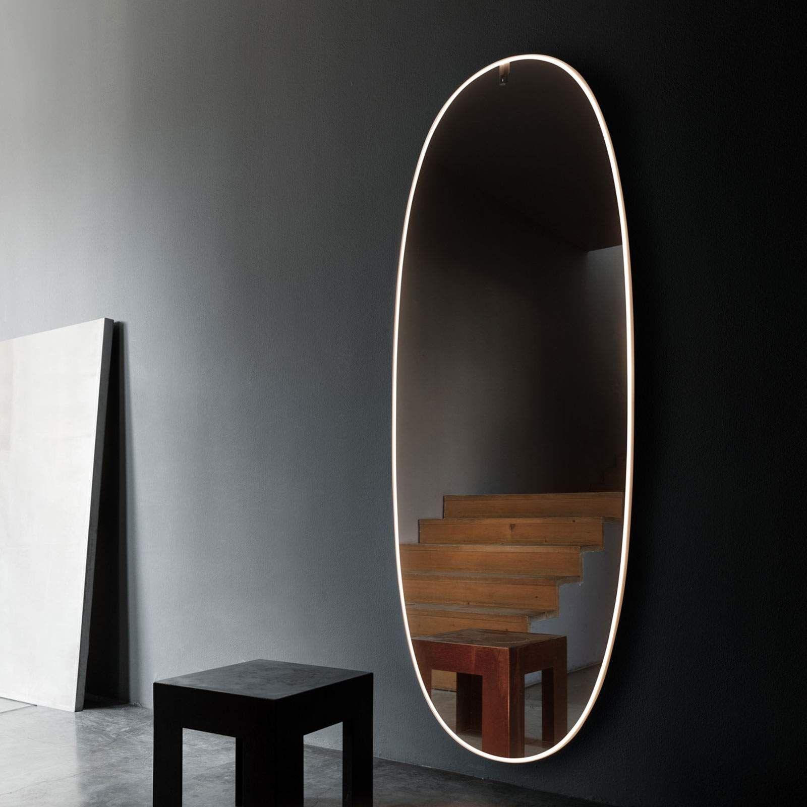 Flos La Plus Belle Led Wandspiegel Bronze Poliert Spiegel