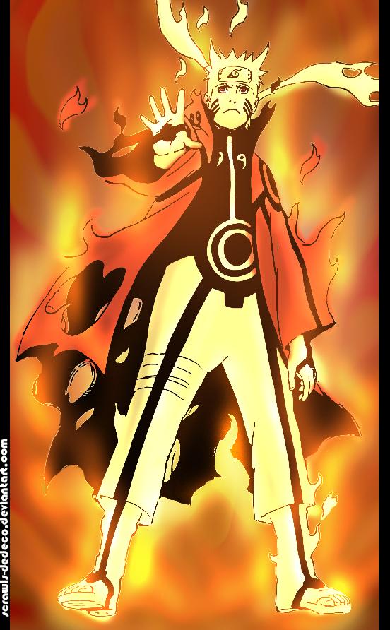 Wallpaper Naruto Kyuubi Mode Hd Dengan Gambar