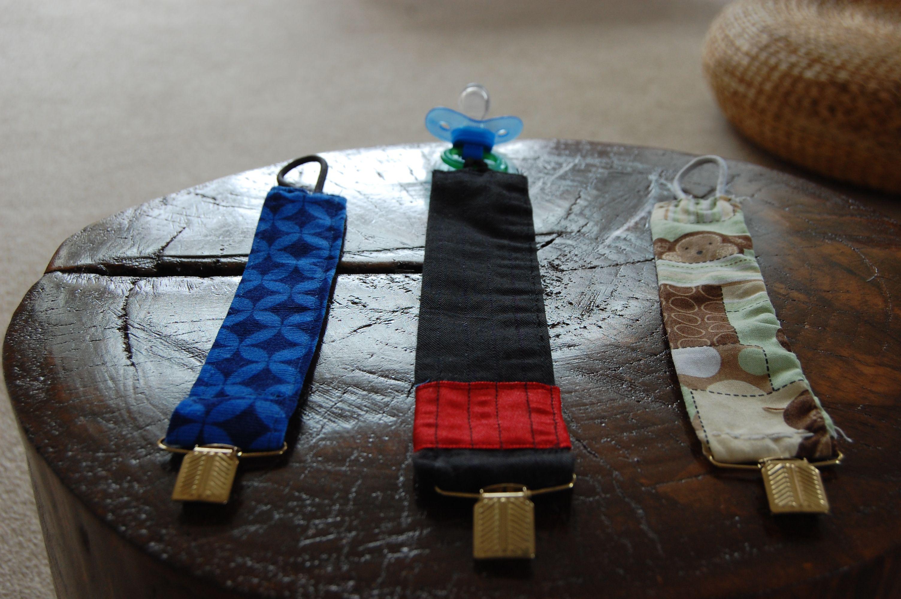 Binki holders I made.