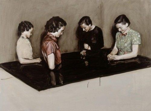 Michaël Borremans    Four Fairies, 2003