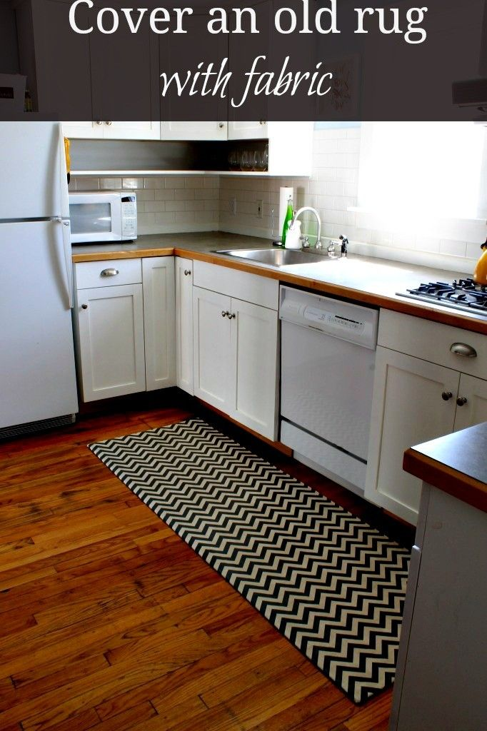 Luxury Cover an old rug with fabric This is a great way to give an old rug a new life Minimalist - Luxury yellow kitchen rugs Awesome