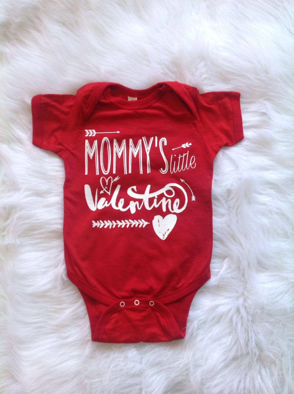 Mommys Little Valentine Baby Valentine Onesie Baby Boy