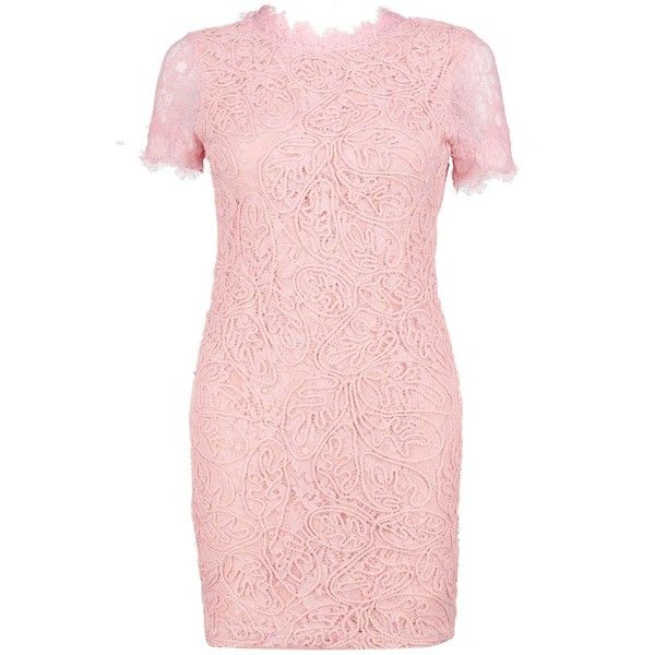 Boohoo Boutique Issy Eyelash Lace Bodycon Dress ($60) ❤ liked on Polyvore featuring dresses, bodycon mini dress, party dresses, color block maxi dresses, pink midi dress and maxi dresses