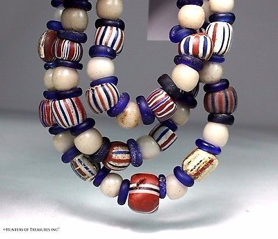 Antique Native American 5 Layers Chevron Old Trade Beads Indian Artifact Ny 1700 Bead Indian Trade Beads Indian Artifacts