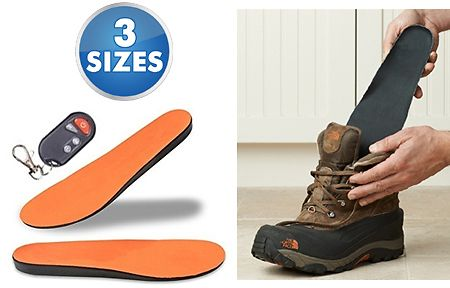 Deluxe Rechargeable Wireless Heated Insoles With Remote Control Remote Control Recharge Insole