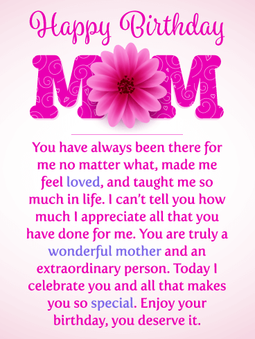 I Celebrate You Happy Birthday Card For Mother Birthday Greeting Cards By Davia Birthday Cards For Mother Happy Birthday Mom Quotes Birthday Message For Mom