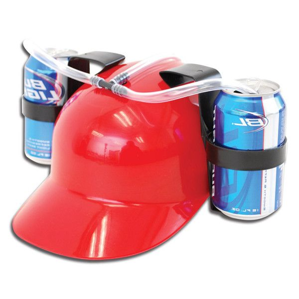 3f3726955 Fashion Fun Unique Cool Party holiday Game Beer Soda Dual Can Holder Straw  Drinking Hard Hat Helmet Cap 4 Colors                Click on the pin to  check ...