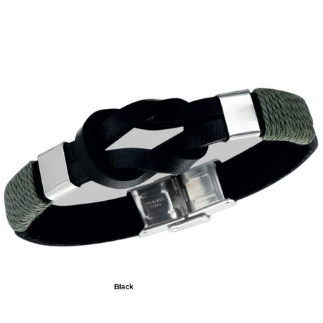 """Men's Leather & Stainless Bracelet (Retail Price $49.99) """"Our Price $7.00"""" only at nomorerack.com"""