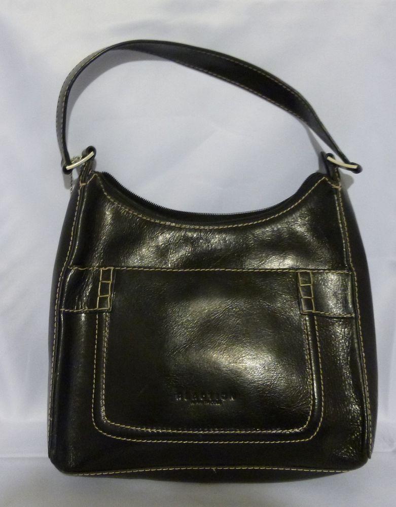 Kenneth Cole Reaction Black leather purse #KennethCole #ShoulderBag ...