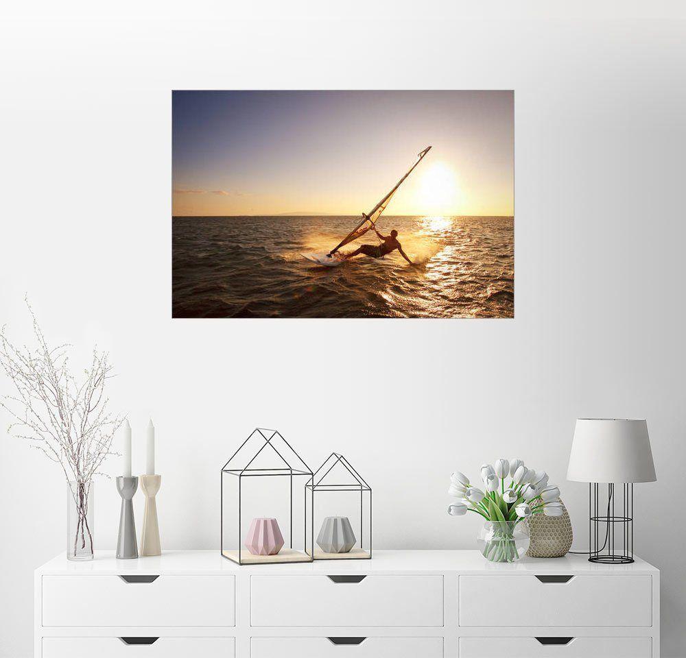 Wandbild Makenastockmedia Windsurfer Auf Hawaii Wandbilder Lounge Und Paris Eiffelturm