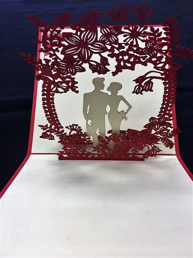 Give this unique d pop up card with your wedding gift