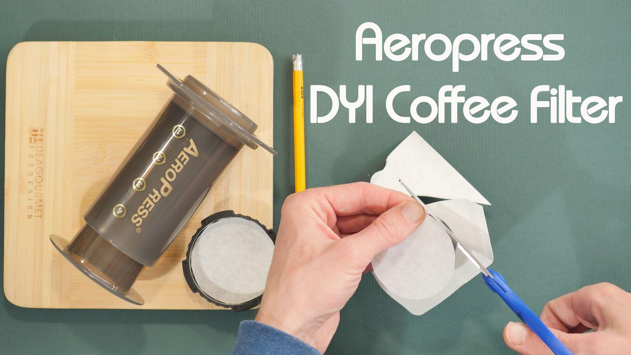 Aeropress coffee hack diy coffee paper filter aeropress