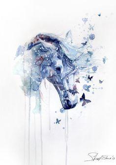 Aquarelle Tattoo Horses Recherche Google Peinture De Cheval
