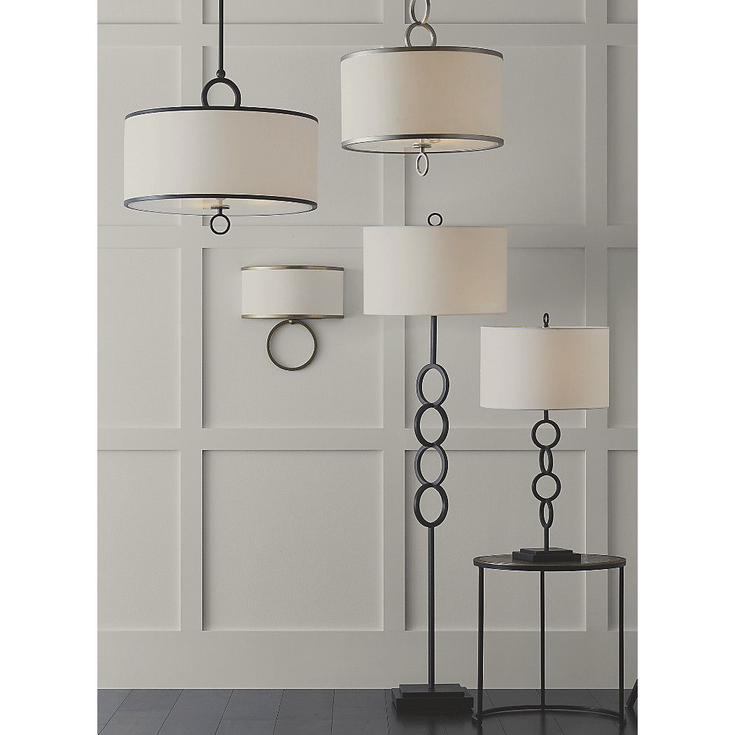 """Axiom 24"""" Silver Drum Pendant + Reviews Crate and Barrel"""