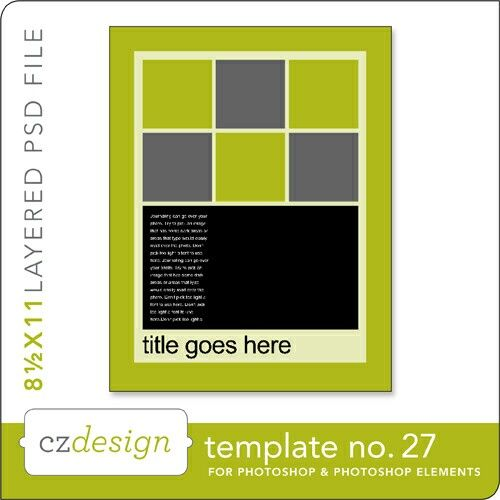 Cathy Zielskes Layered Template No. 027 - Digital Scrapbooking Templates