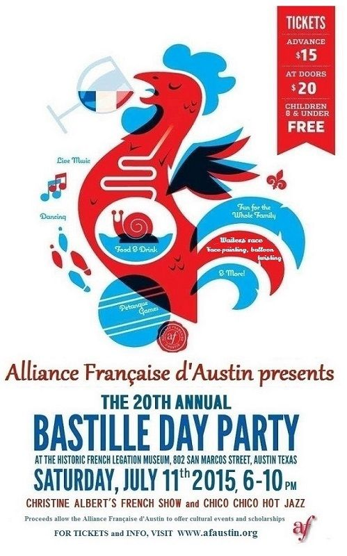 keywords: non-profit party invitation rooster France French Bastille ...