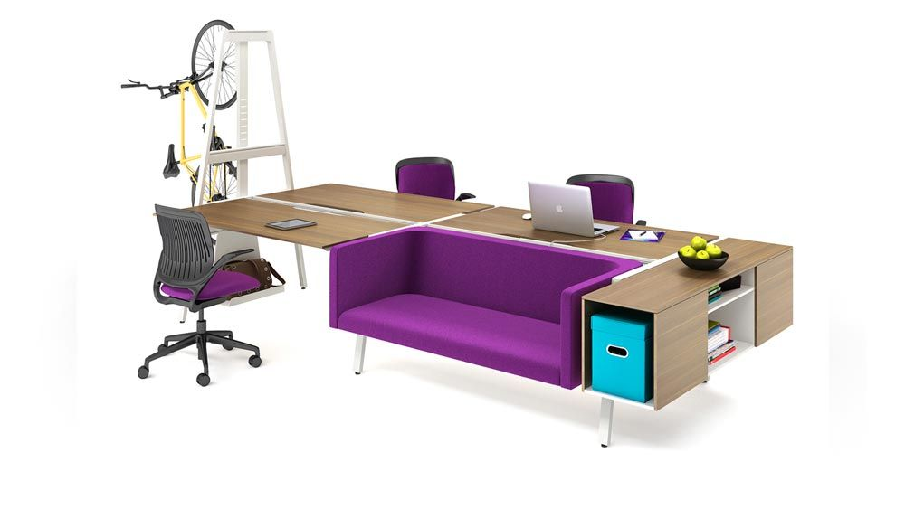 Bivi Collection Of Modular Office Desk Systems Turnstone Office Space Decor Private Office Furniture Modular Office