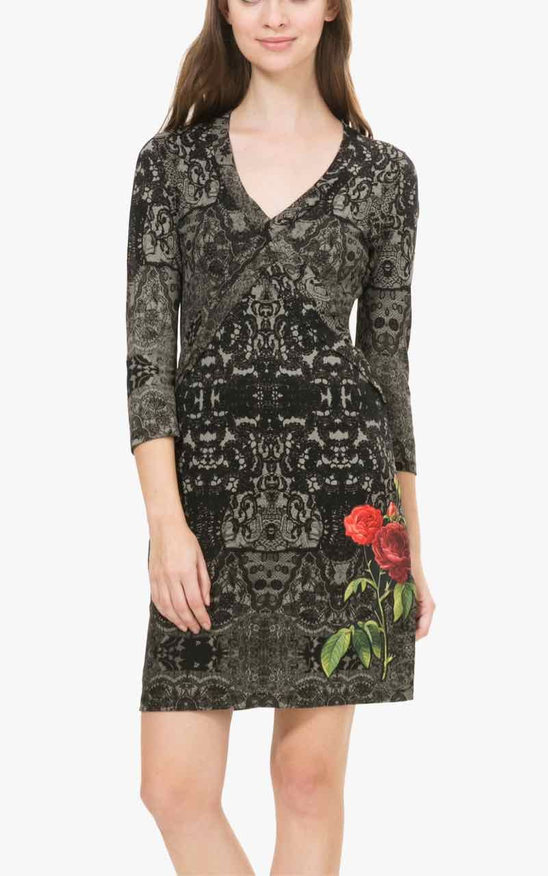 "Desigual Dress ""Patricia"" | Rose, Winter dresses and Gray dress"